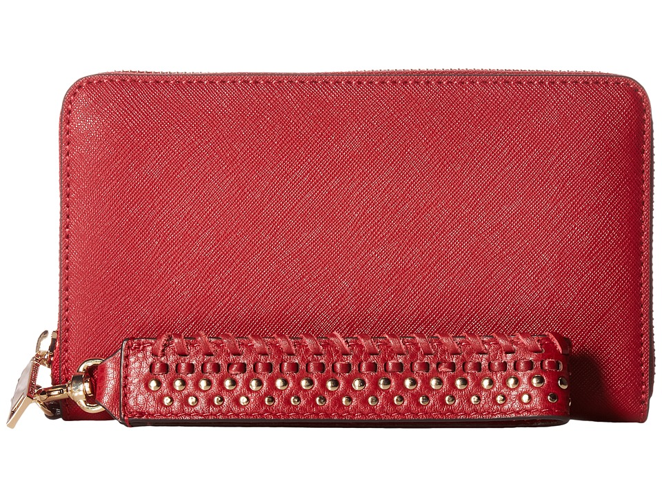 Rebecca Minkoff - Tech Wallet with Wristlet (Deep Red) Handbags