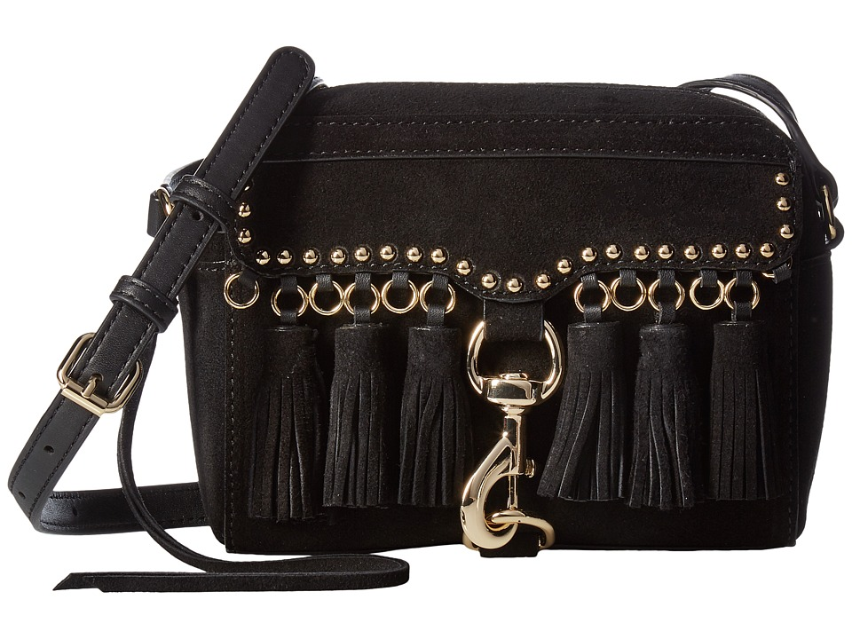 Rebecca Minkoff - Multi Tassel Camera Bag (Black) Bags