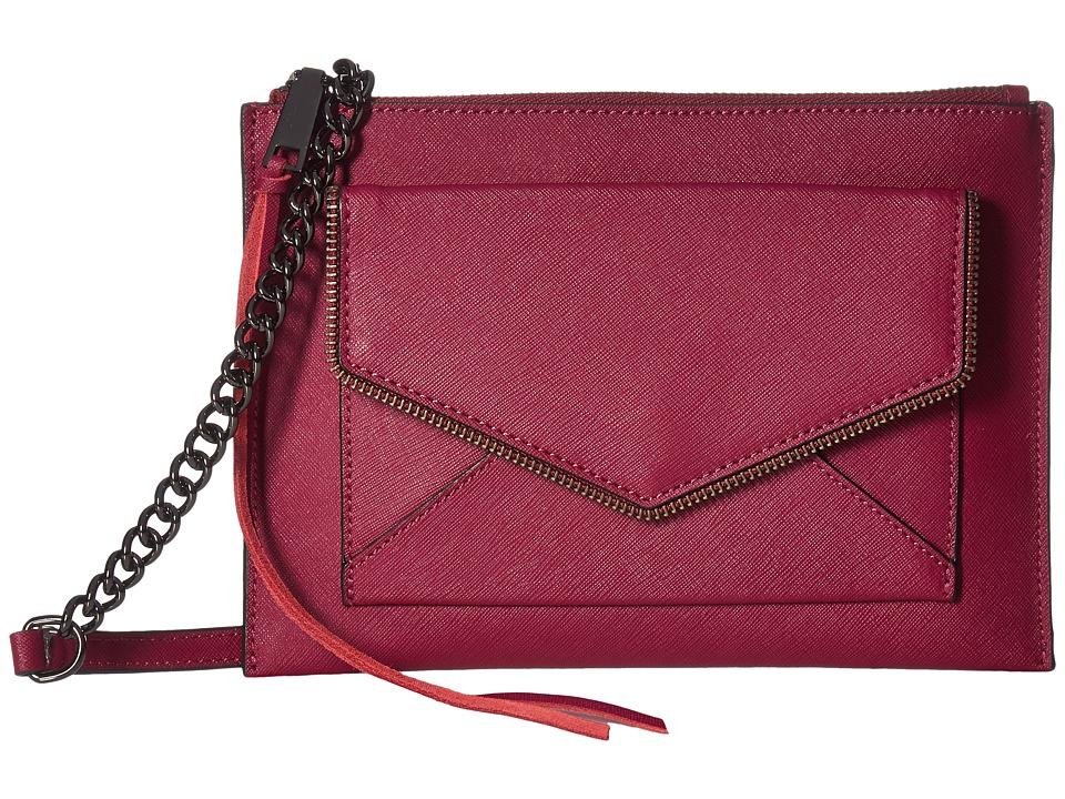 Rebecca Minkoff - Leo Flat Crossbody (Soft Berry) Cross Body Handbags