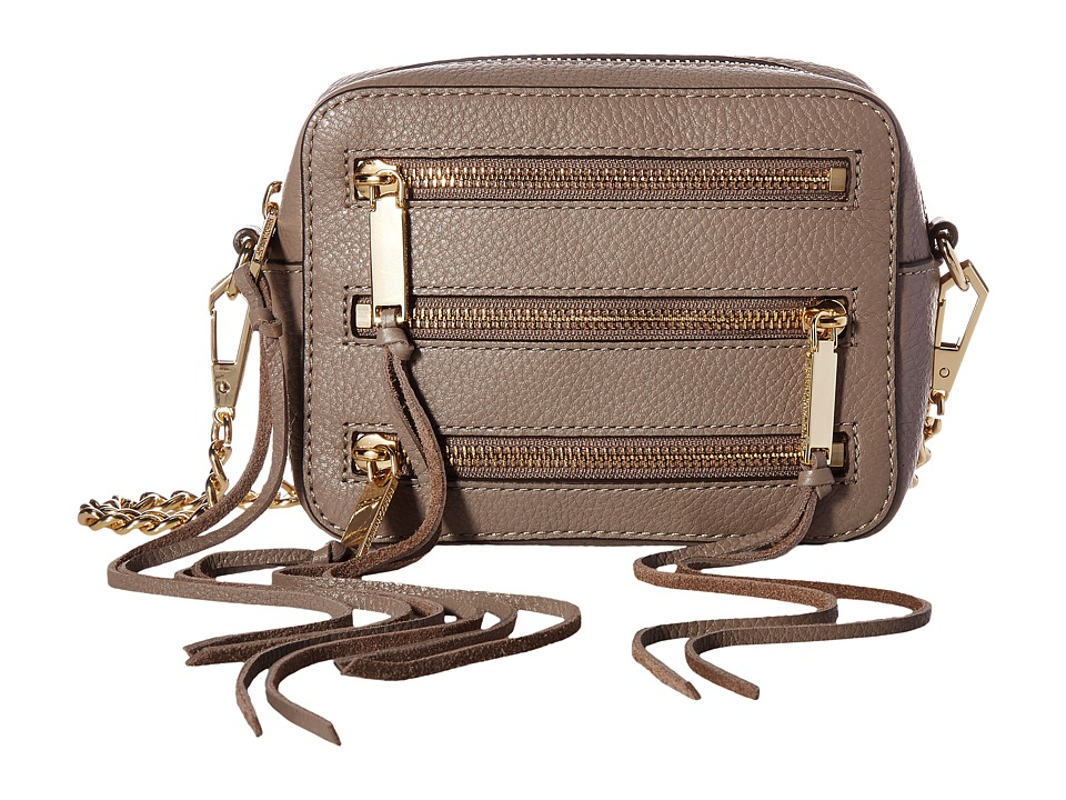 Rebecca Minkoff - 4 Zip Moto Camera Bag (Mushroom) Bags