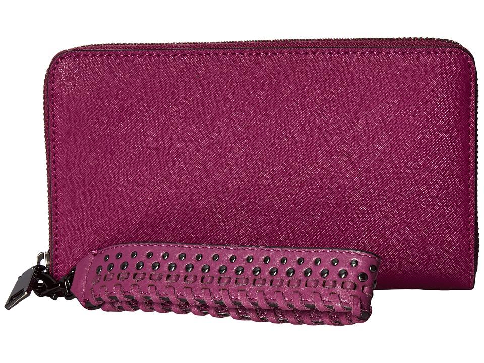 Rebecca Minkoff - Tech Wallet with Wristlet (Soft Berry) Handbags