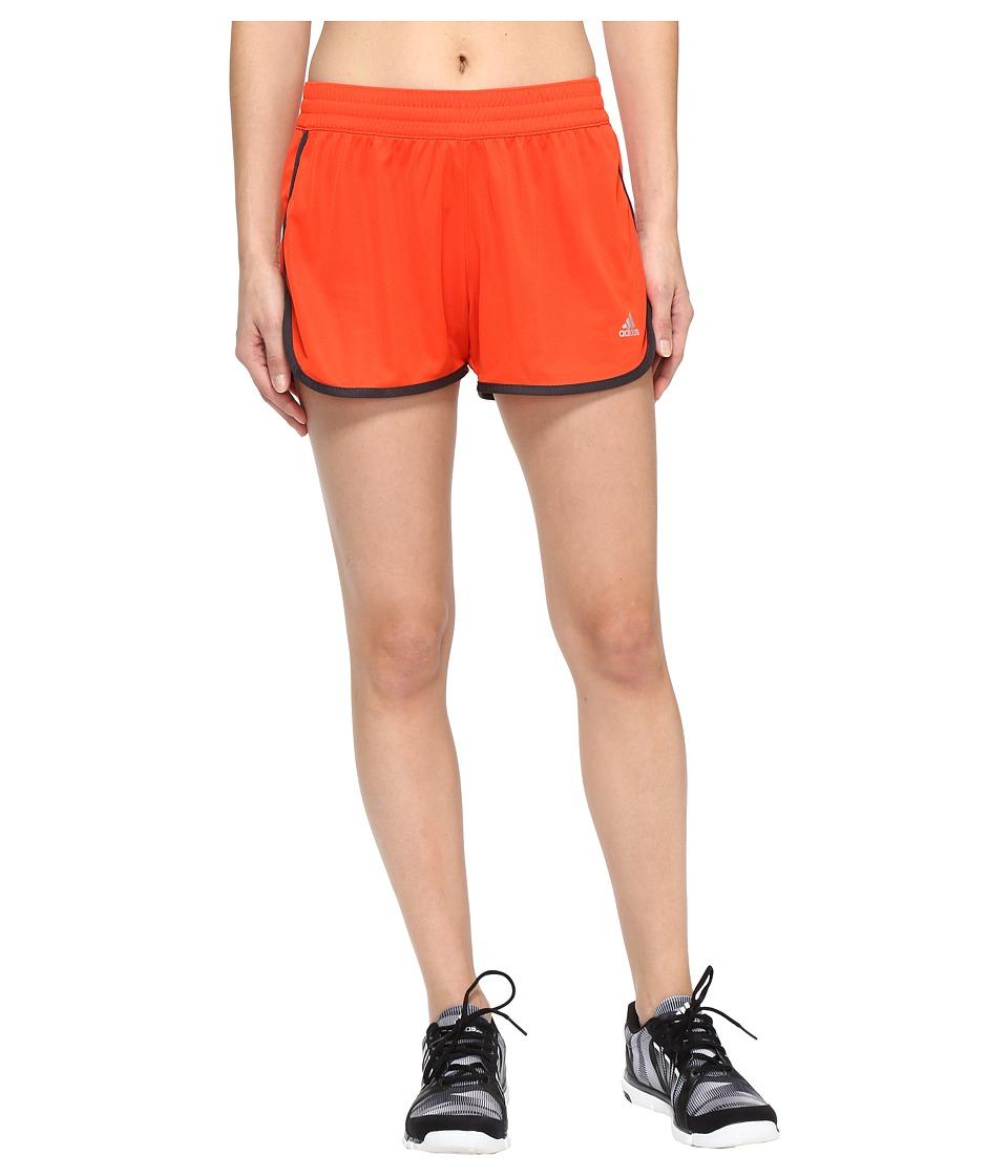 adidas - 100M Dash Knit Shorts (Energy/Utility Black/Matte Silver) Women's Shorts
