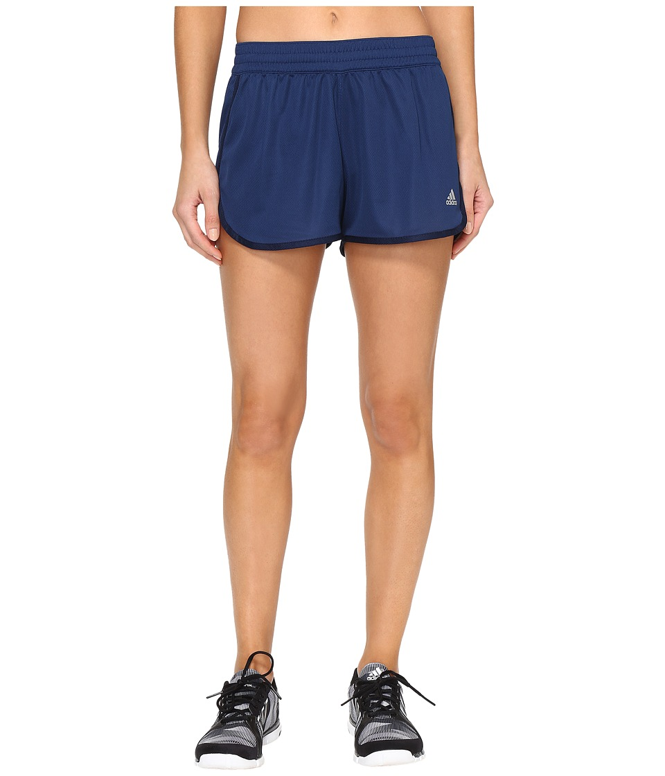 adidas - 100M Dash Knit Shorts (Mystery Blue/Collegiate Navy) Women's Shorts