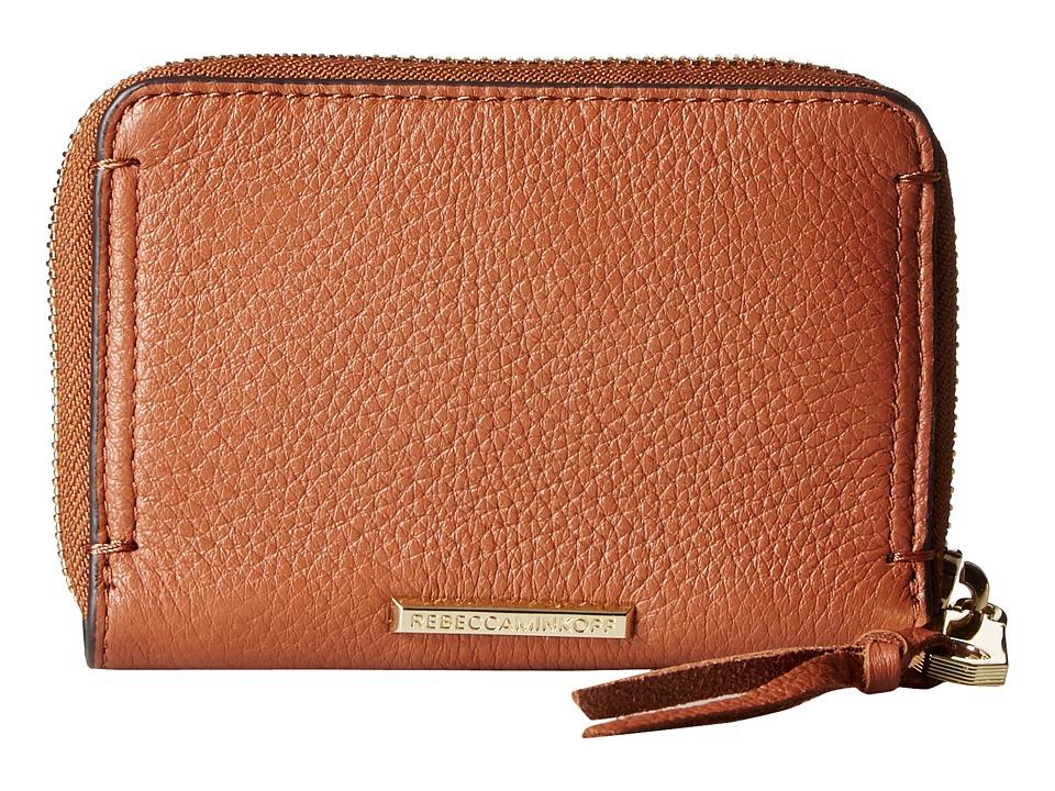 Rebecca Minkoff - Mini Regan Zip Wallet (Almond) Wallet Handbags