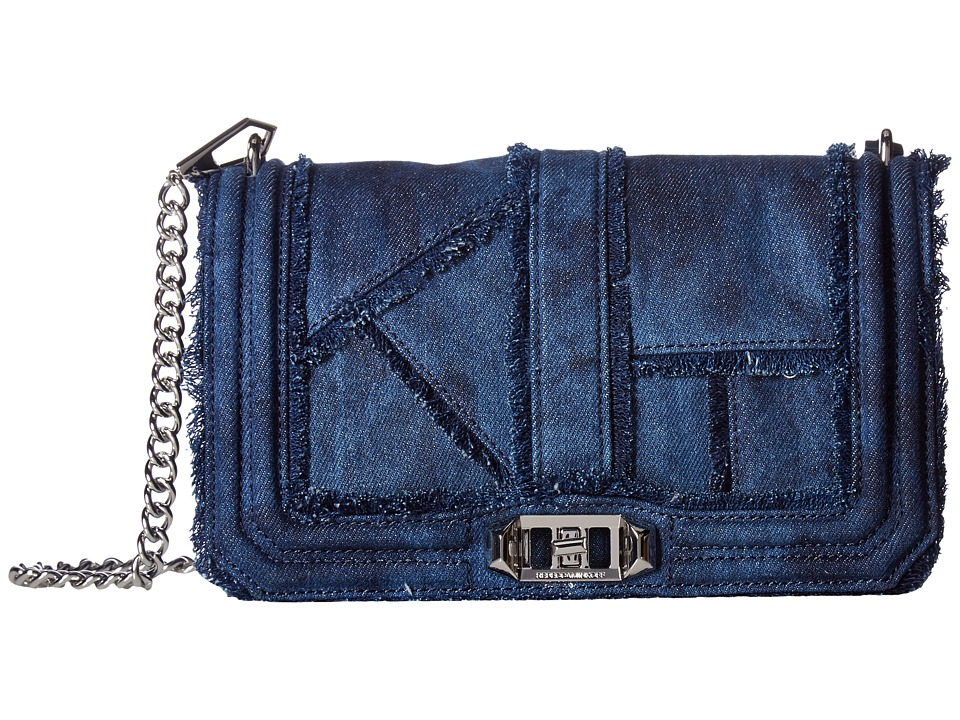 Rebecca Minkoff - Denim Love Crossbody (Denim) Cross Body Handbags
