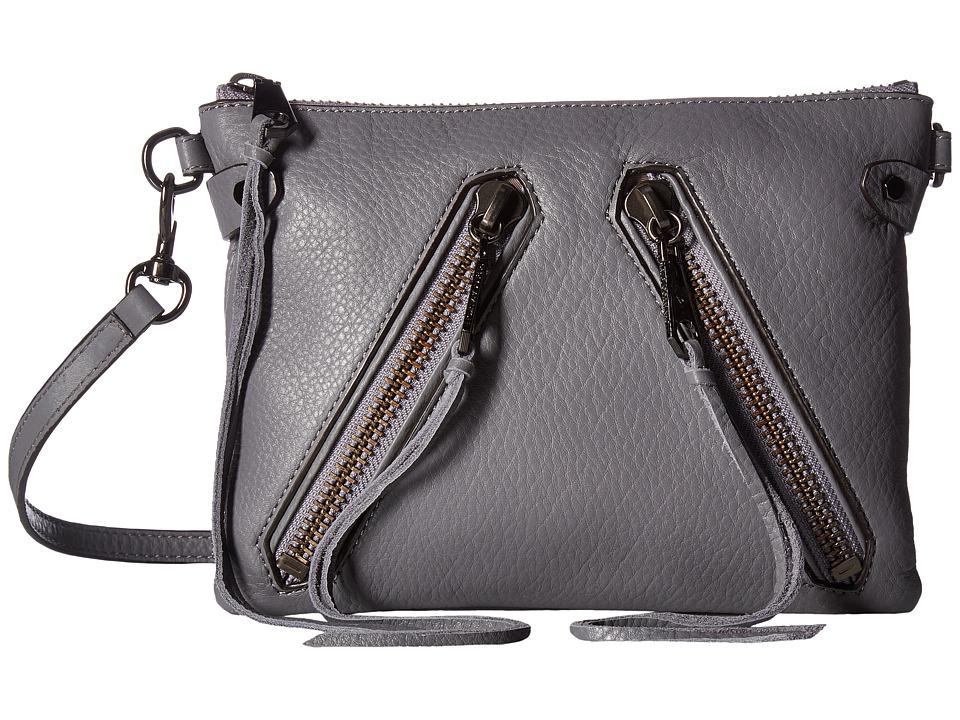Rebecca Minkoff - Moto Jon Crossbody (Grey Denim) Cross Body Handbags