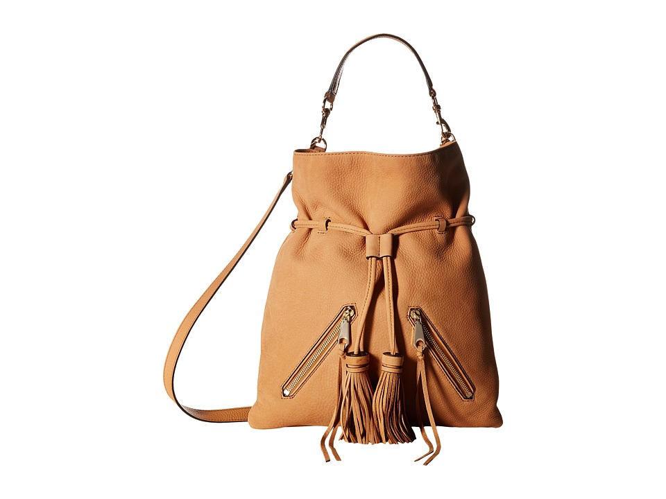 Rebecca Minkoff - Large Moto Drawstring Crossbody (Almond 1) Cross Body Handbags