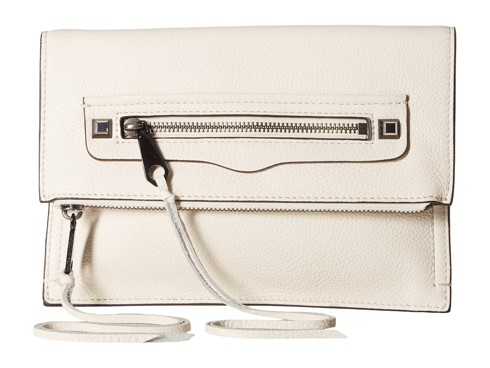 Rebecca Minkoff - Small Regan Clutch (Antique White) Clutch Handbags