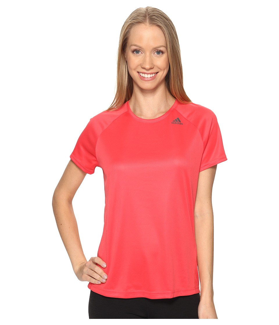 adidas - Designed-2-Move Tee (Core Pink) Women's T Shirt