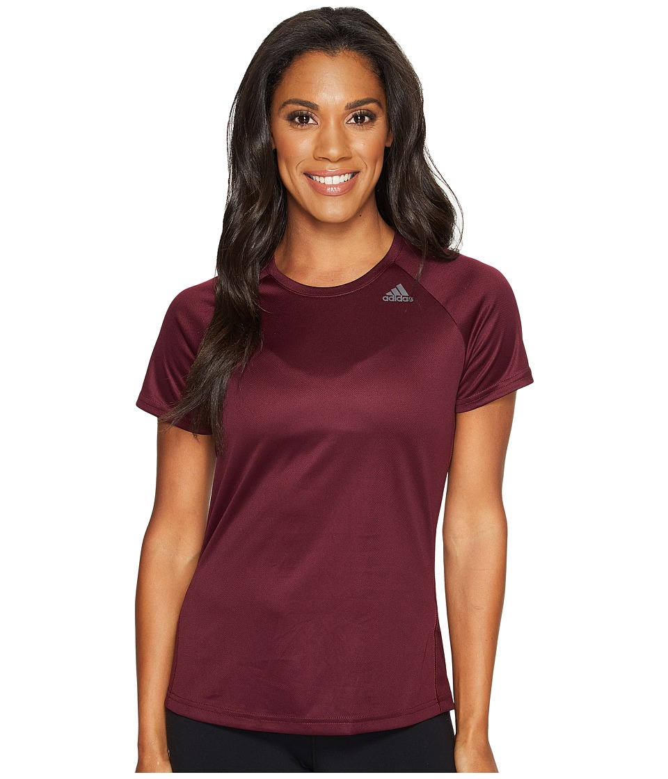 adidas - Designed-2-Move Tee (Maroon) Women's T Shirt