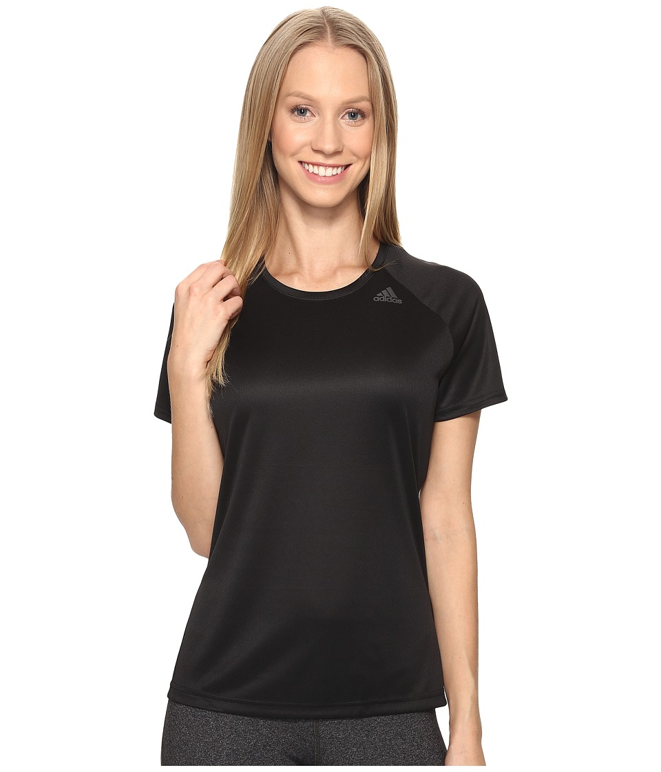 adidas - Designed-2-Move Tee (Black) Women's T Shirt