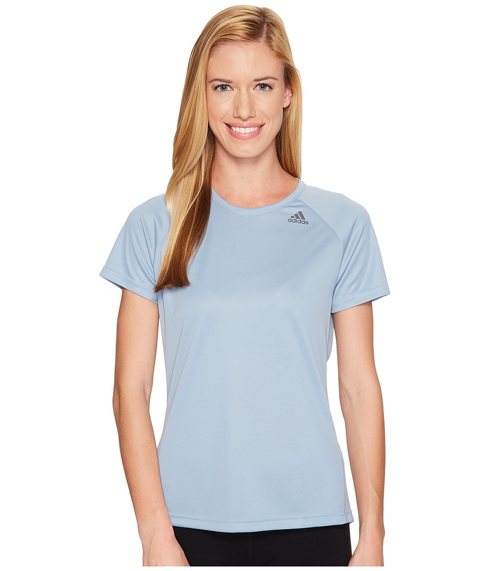 adidas - Designed-2-Move Tee (Tactile Blue) Women's T Shirt