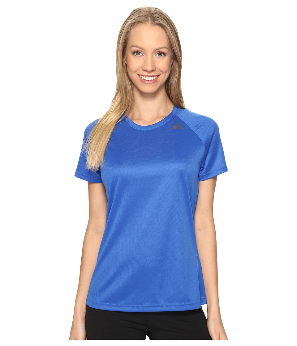 adidas - Designed-2-Move Tee (Blue) Women's T Shirt