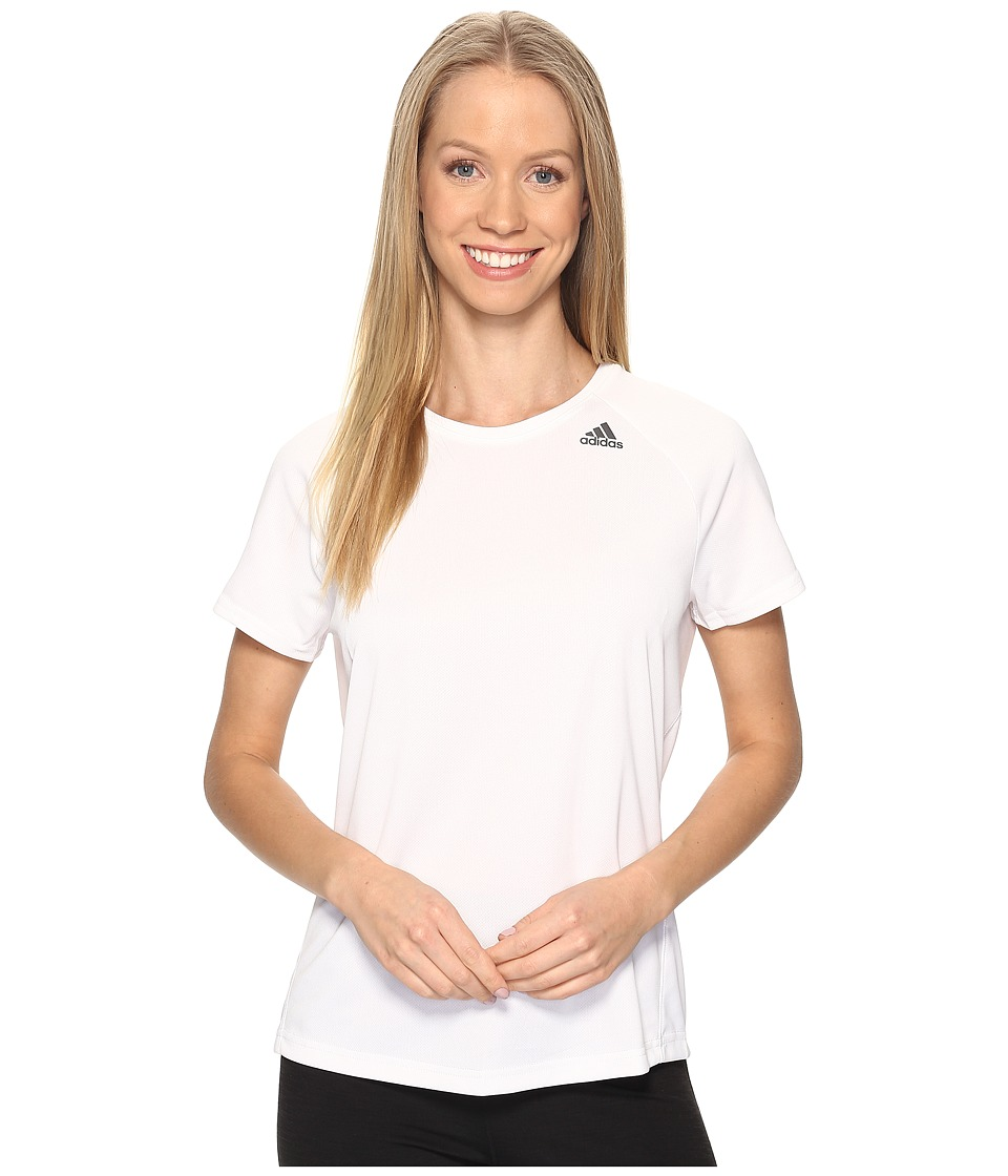 adidas Designed-2-Move Tee (White) Women