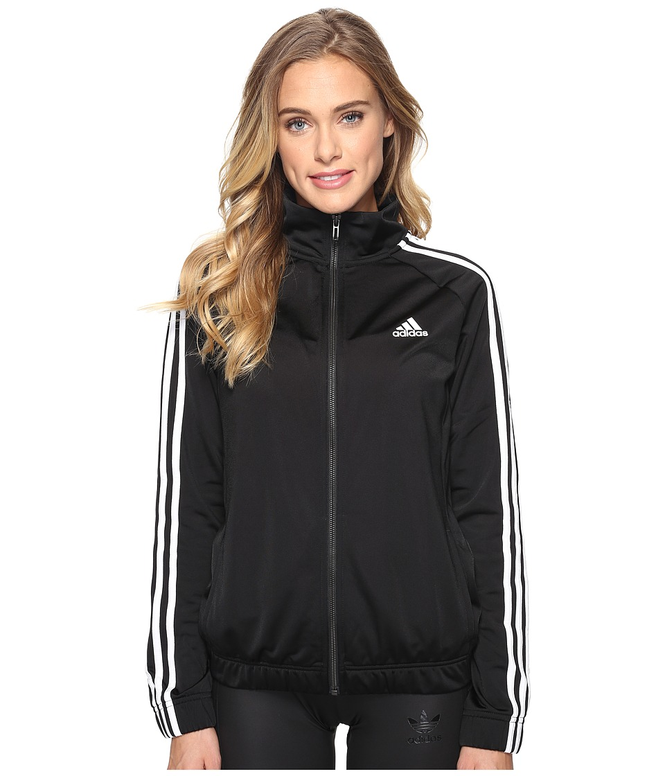 adidas - Designed-2-Move Track Top (Black/White) Women's Clothing