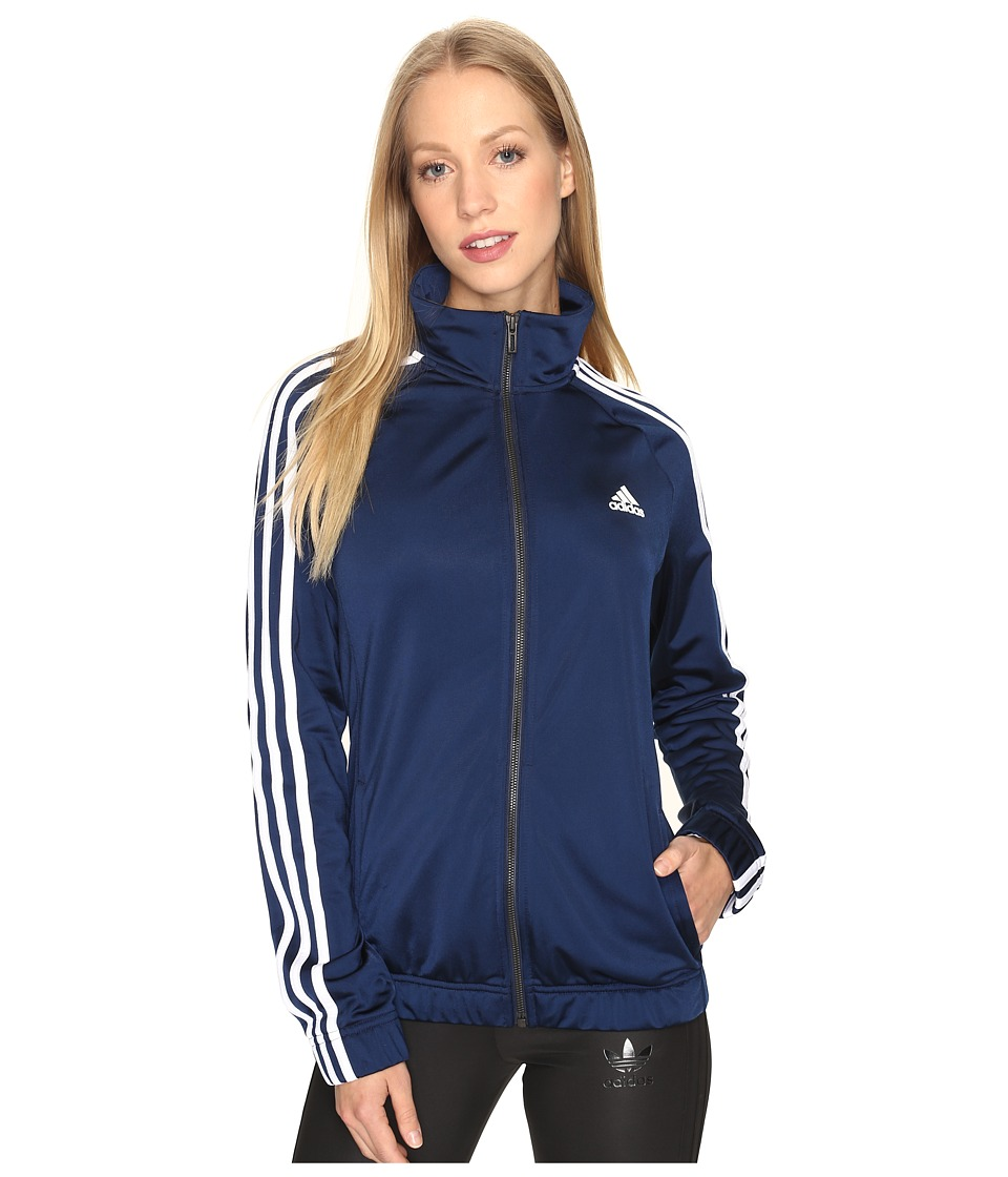 adidas - Designed-2-Move Track Top (Collegiate Navy/White) Women's Clothing