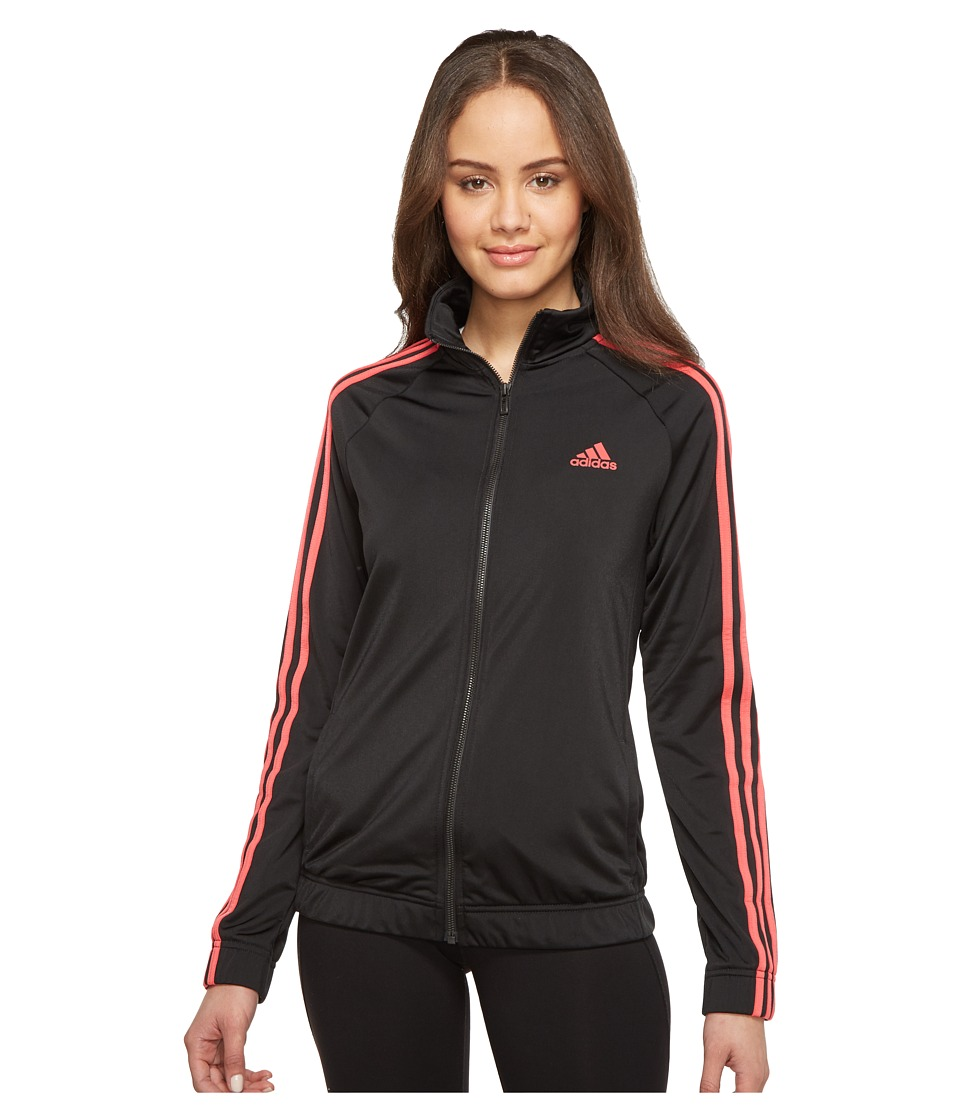 adidas - Designed-2-Move Track Top (Black/Core Pink) Women's Clothing