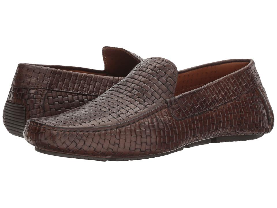 Aquatalia - Bryce (Dark Brown Embossed Calf) Men's Slip on Shoes