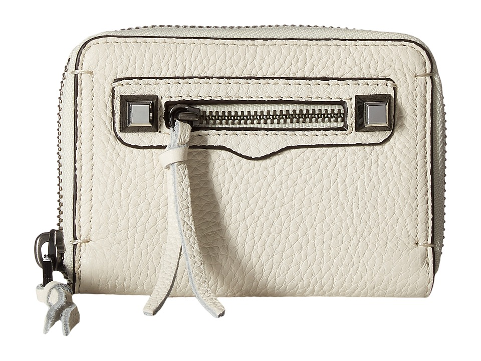 Rebecca Minkoff - Mini Regan Zip Wallet (Antique White) Wallet Handbags