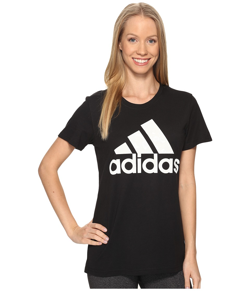 adidas - Badge Of Sport Smoothie Tee (Black/White) Women's T Shirt