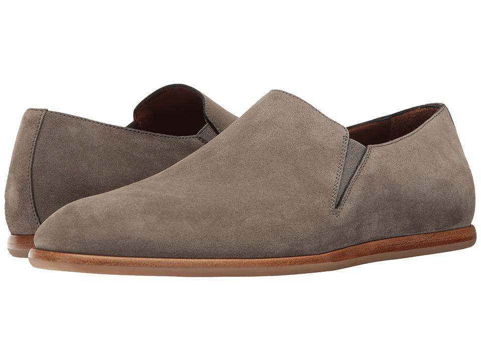 Aquatalia - Irwin (Grey Dress Suede) Men's Slip on Shoes