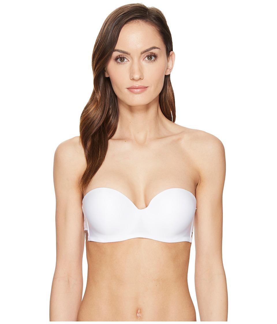 Emporio Armani - Visibility Microfiber Convertible Strapless Bandeau Bra (White) Women's Bra