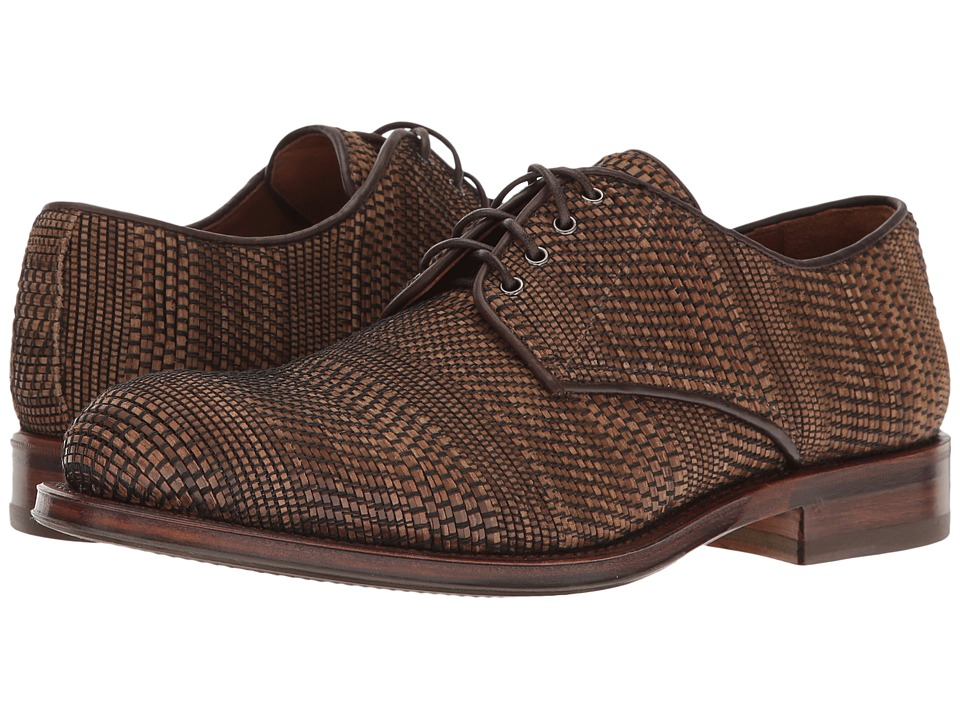 Aquatalia - Vance (Dark Brown Woven Leather) Men's Lace up casual Shoes