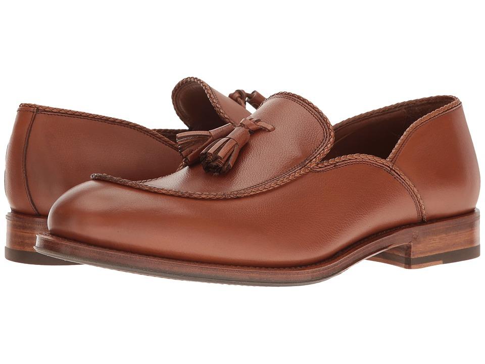 Aquatalia - Vigo (Tan Textured Dress Calf) Men's Slip on Shoes