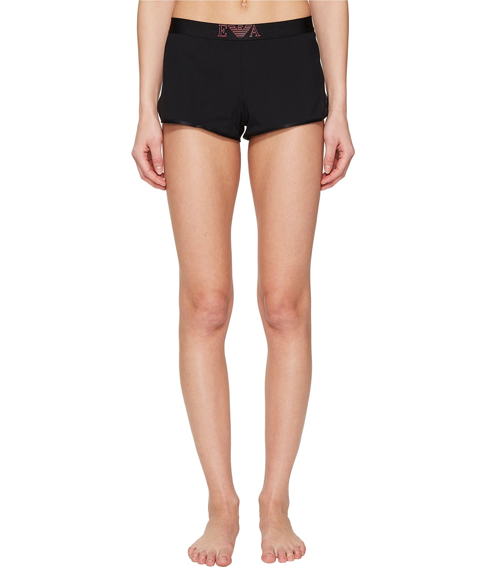 Emporio Armani - Visibility Sport Shorts (Black) Women's Underwear
