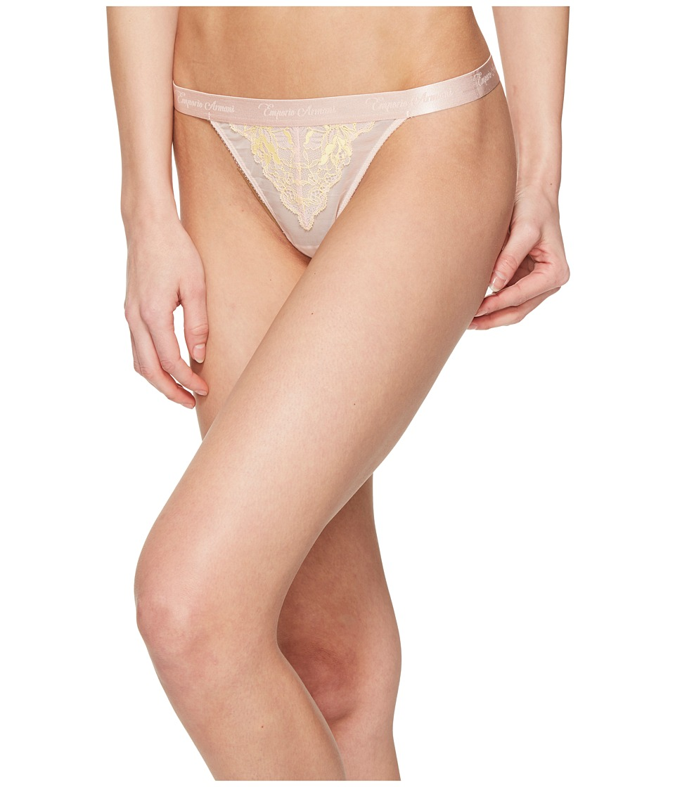 Emporio Armani - Neo Romantic Lace Brief (Peach/Sun) Women's Underwear