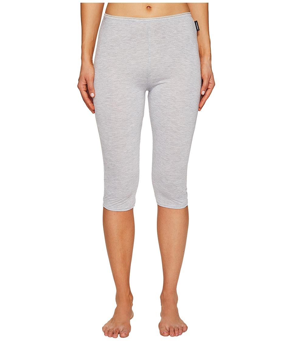 Emporio Armani Neo Romantic Macrame Viscose Lounge Cropped Leggings (Grey Melange) Women