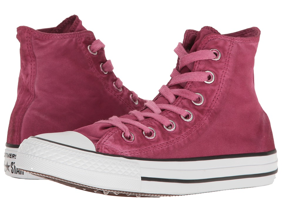 Converse - Chuck Taylor(r) All Star(r) Kent Wash Hi (Rhubarb/Black/White) Women's Shoes