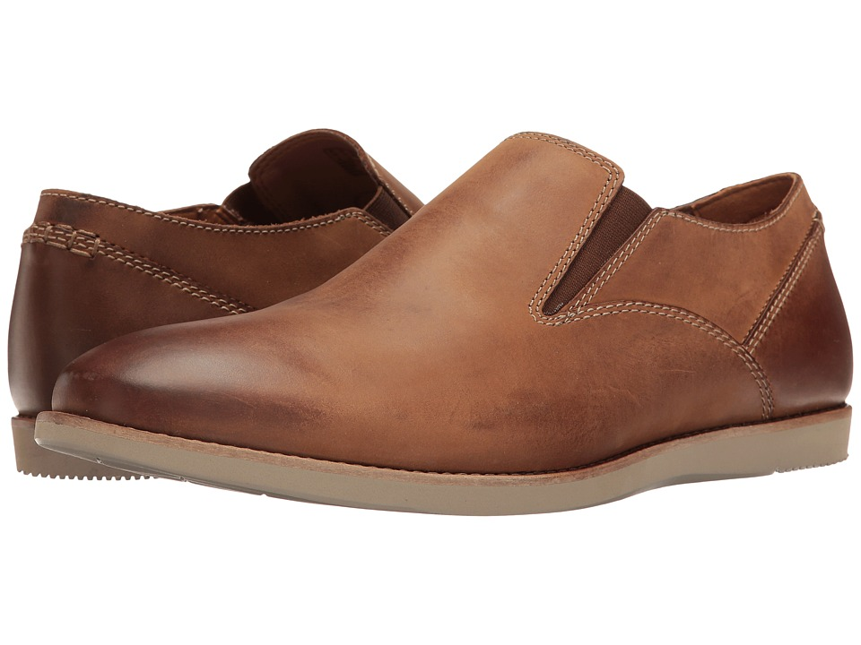 Clarks - Franson Stride (Tan Leather) Men's Shoes