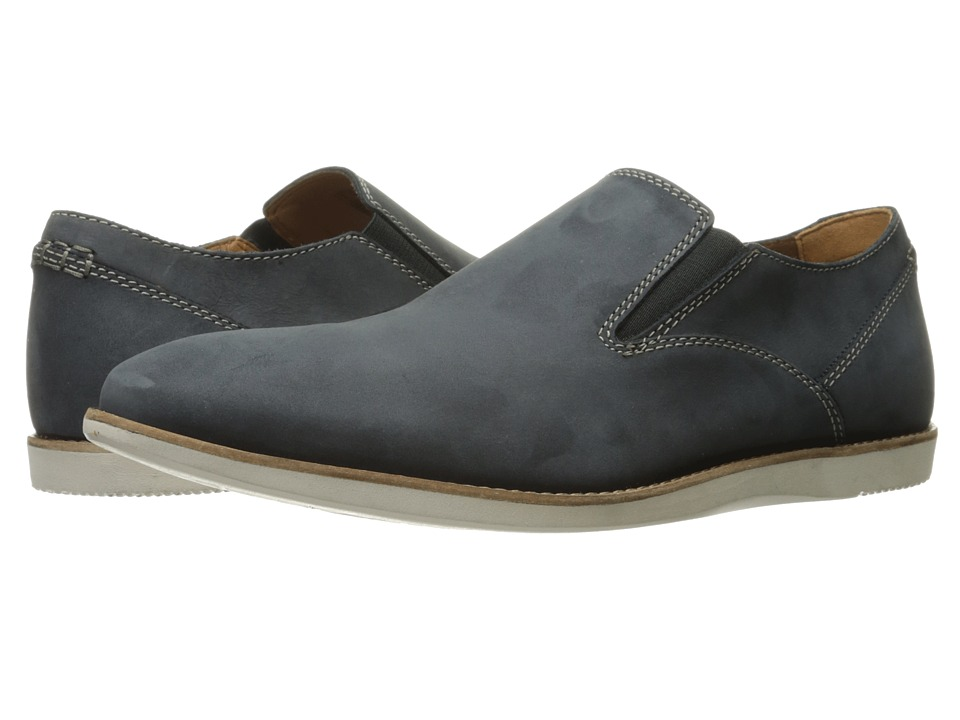 Clarks - Franson Stride (Blue Nubuck) Men's Shoes