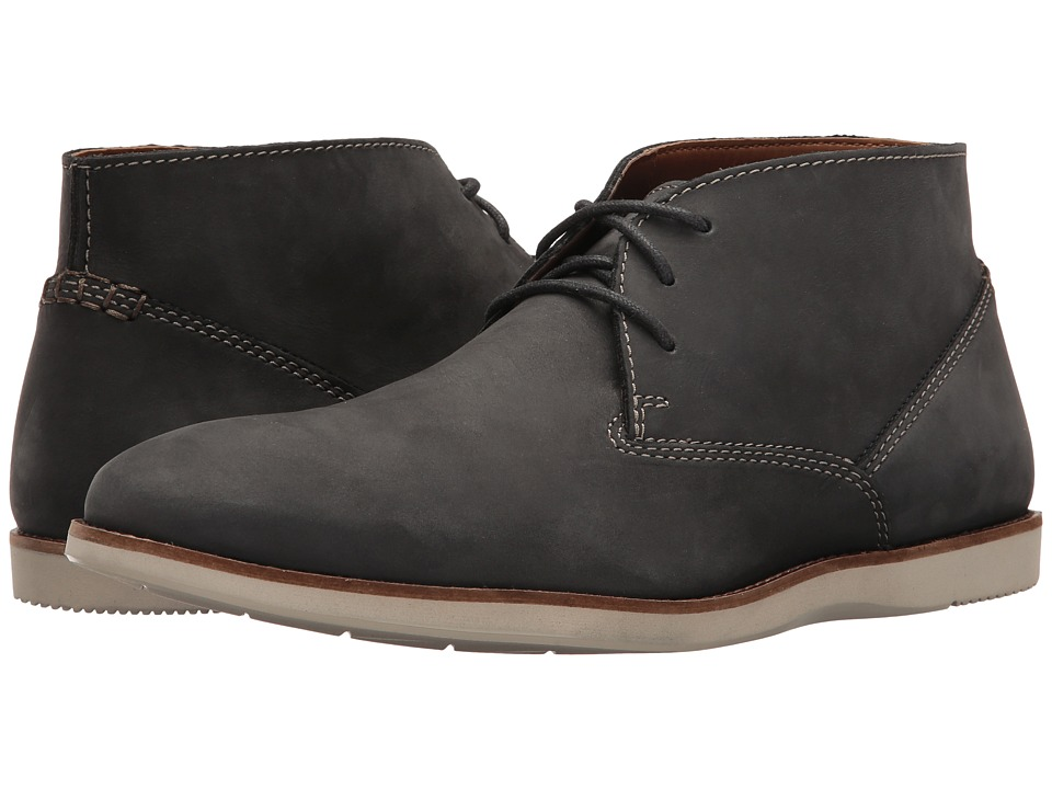 Clarks - Franson Top (Navy Nubuck) Men's Shoes