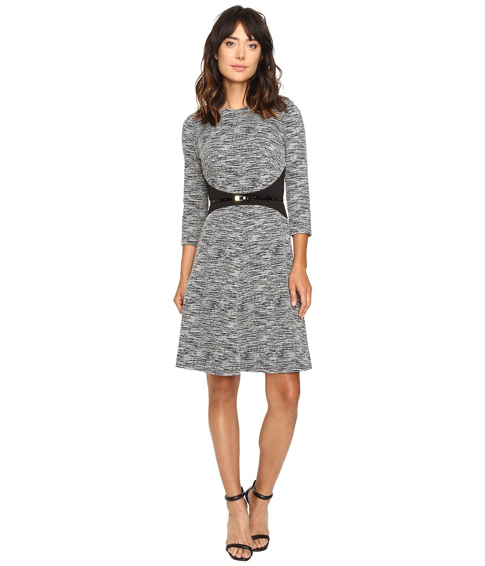 Calvin Klein 3-4 Sleeve Fit and Flare Dress