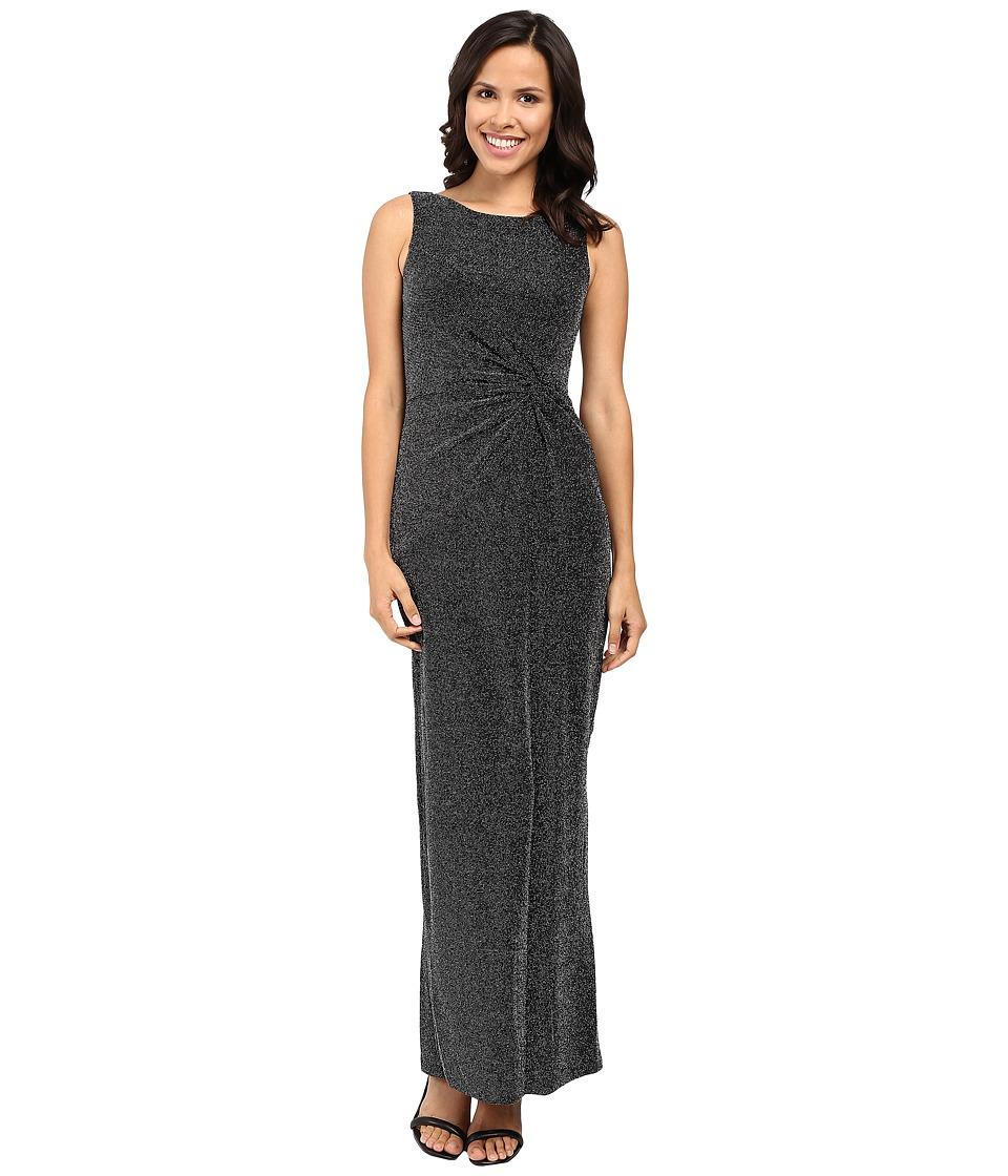 Calvin Klein - Twist Front Gown CD6BAM8V (Black) Women's Dress