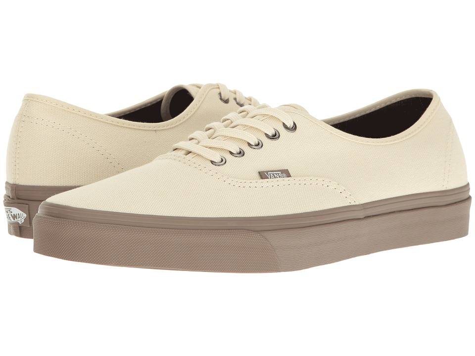 Vans - Authentictm ((C&D) Cream/Walnut) Skate Shoes