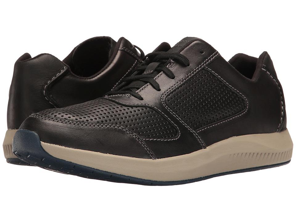 Clarks - Sirtis Mix (Black Leather) Men's Shoes