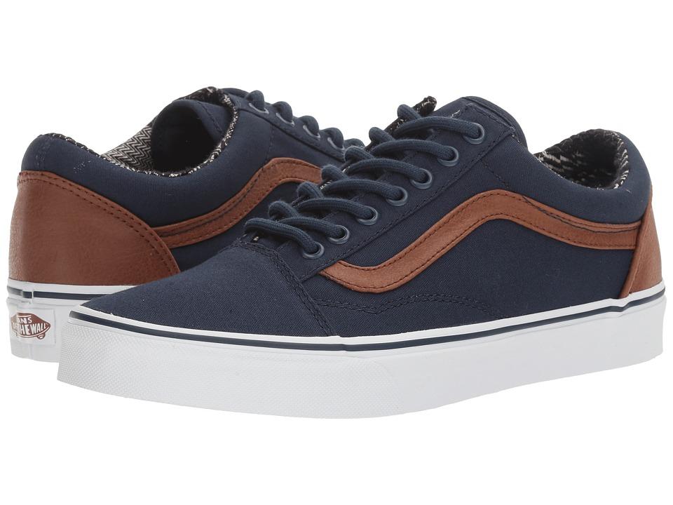Vans - Old Skooltm ((C&L) Dress Blues/Material Mix) Skate Shoes
