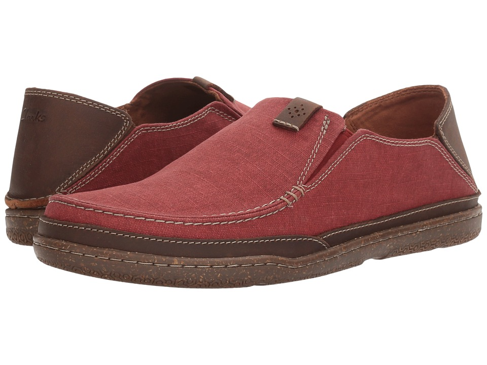 Clarks - Trapell Form (Red Canvas) Men's Shoes