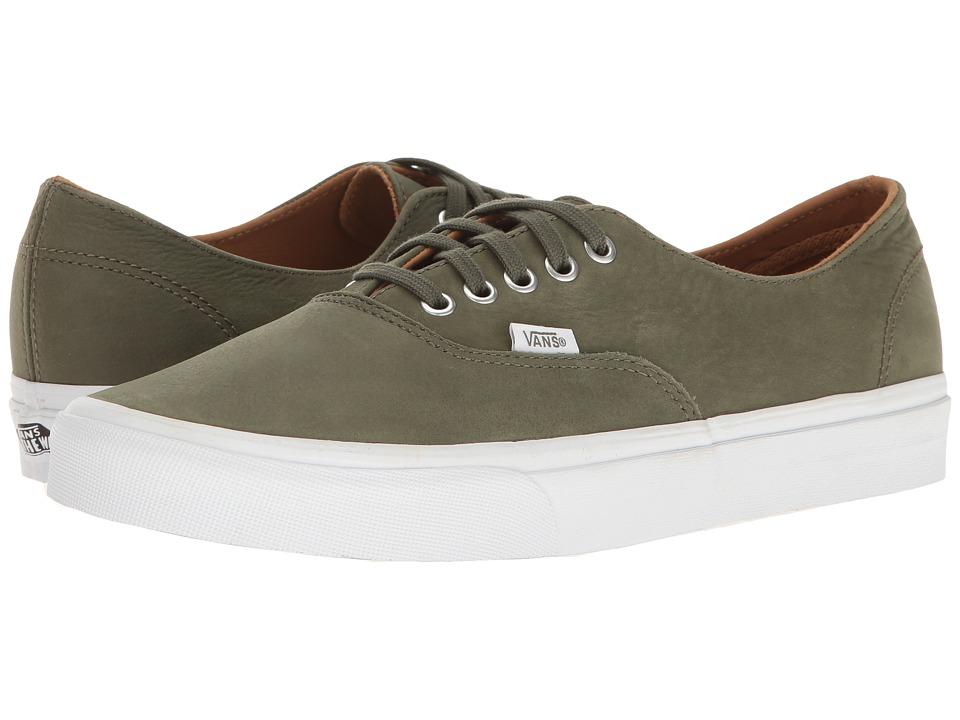 Vans - Authentic Decon ((Premium Leather) Grape Leaf/True White) Skate Shoes