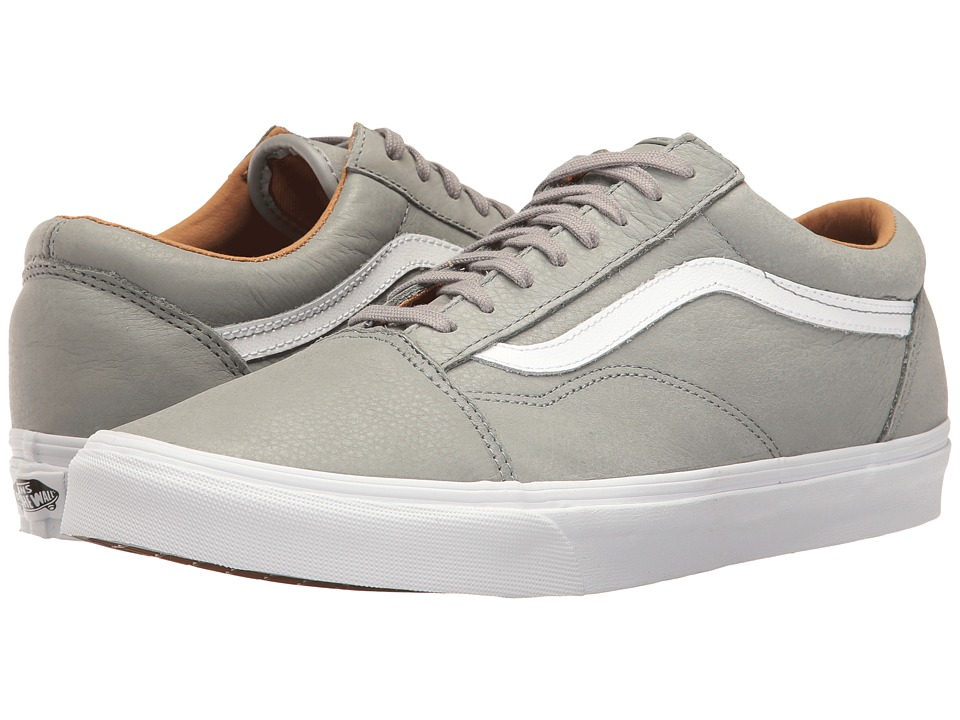 Vans - Old Skool ((Premium Leather) Wild Dove/True White) Skate Shoes