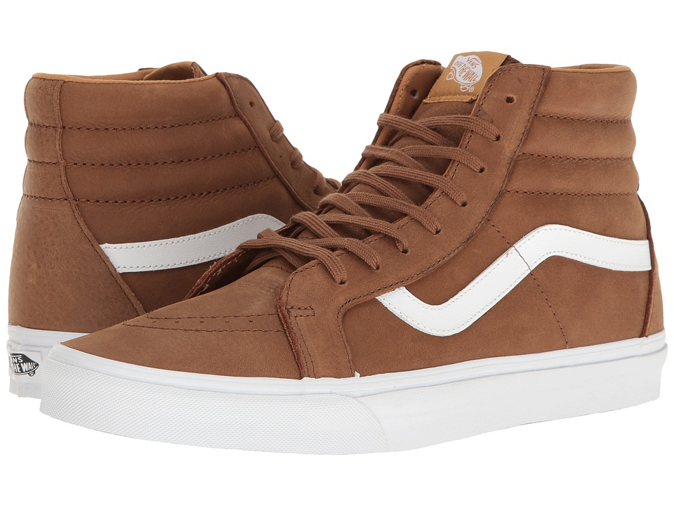 Vans - SK8-Hi Reissue ((Premium Leather) Dachshund/True White) Skate Shoes
