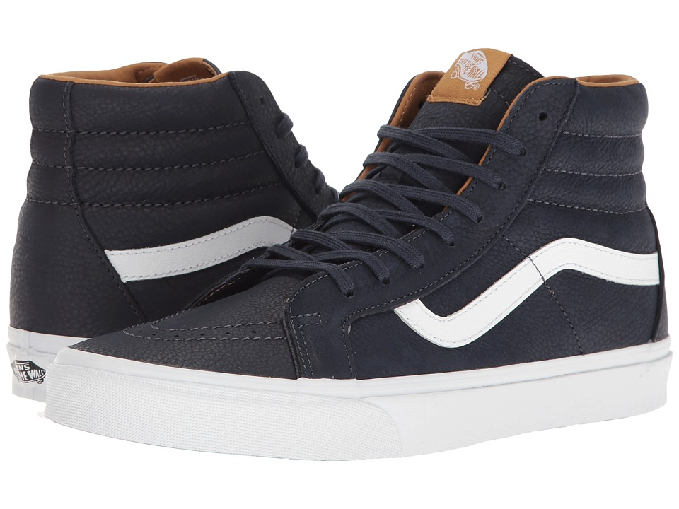 Vans - SK8-Hi Reissue ((Premium Leather) Parisian Night/True White) Skate Shoes