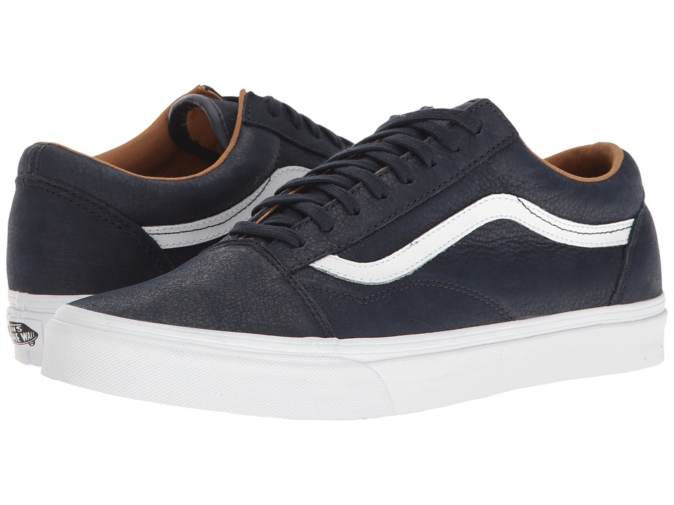 Vans - Old Skool ((Premium Leather) Parisian Night/True White) Skate Shoes