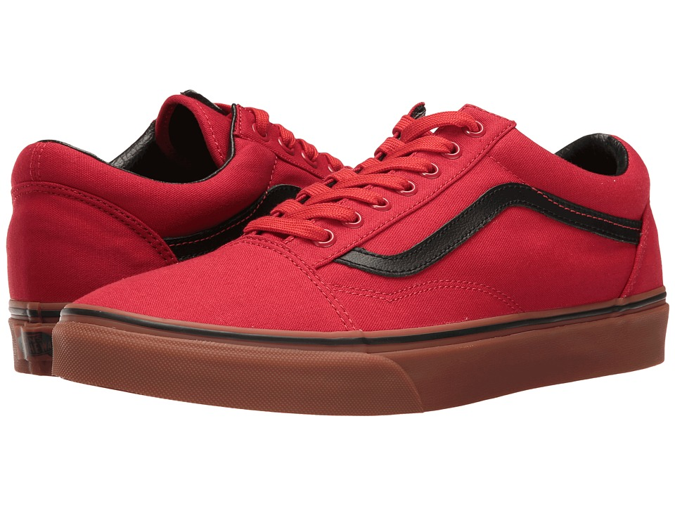 Vans - Old Skool ((Gum) Racing Red/Black) Skate Shoes