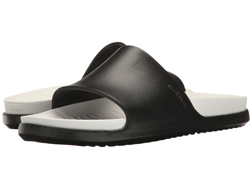 Native Shoes - Spencer LX (Jiffy Black/Shell White) Sandals