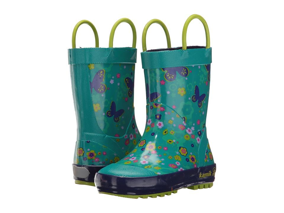 Kamik Kids Flutter (Infant/Toddler) (Teal) Girls Shoes