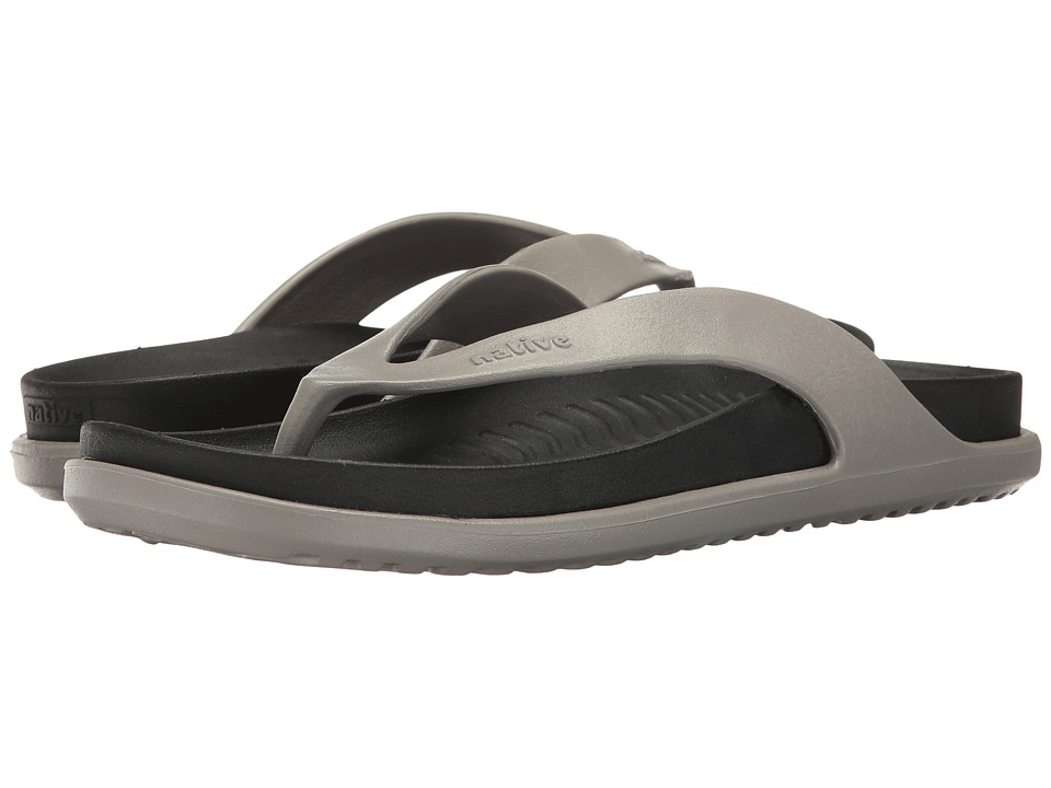 Native Shoes - Yates LX (Pigeon Grey/Jiffy Black) Sandals